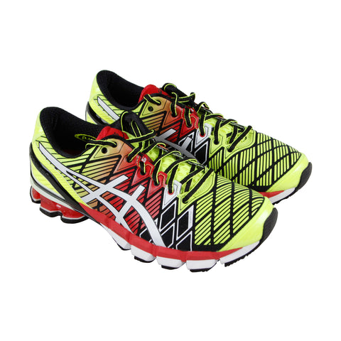 Asics Gel Kinsei 5 Mens Green Synthetic Athletic Lace Up Running Shoes