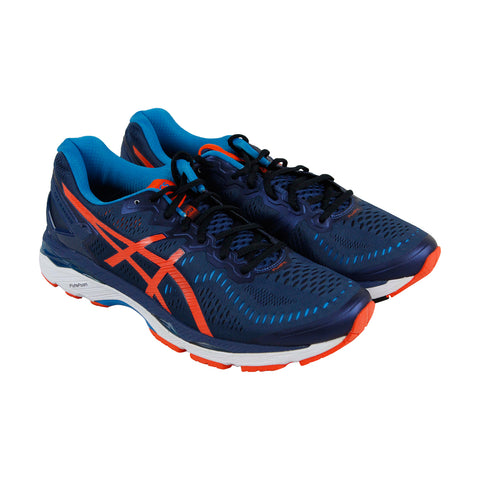 Asics Gel Kayano 23 Mens Blue Textile Athletic Lace Up Running Shoes
