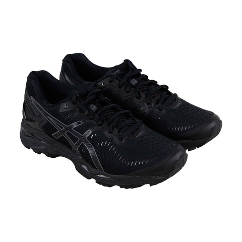 Asics Gel Kayano 23 Mens Black Textile Athletic Lace Up Running Shoes
