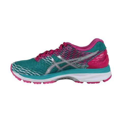 Asics Gel Nimbus 18 Womens Green Mesh Athletic Lace Up Running Shoes