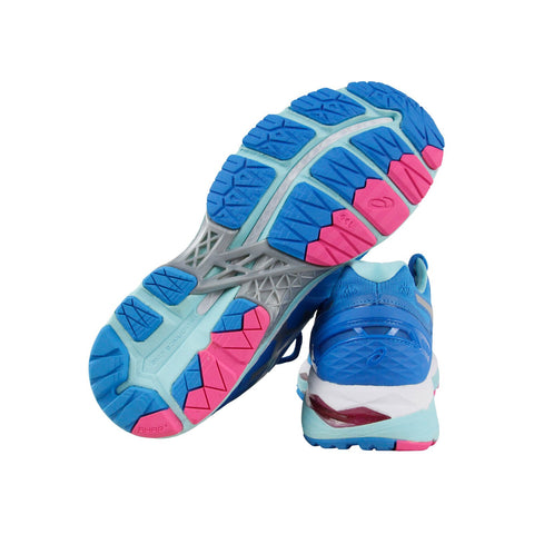 Asics Gel Kayano 23 Womens Blue Textile Athletic Lace Up Running Shoes