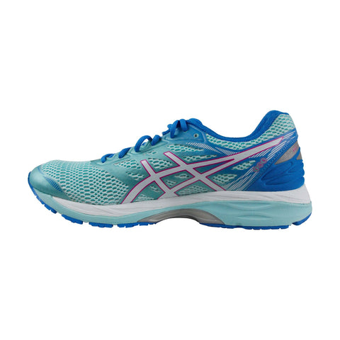 Asics Gel Cumulus 18 Womens Blue Mesh Athletic Lace Up Running Shoes