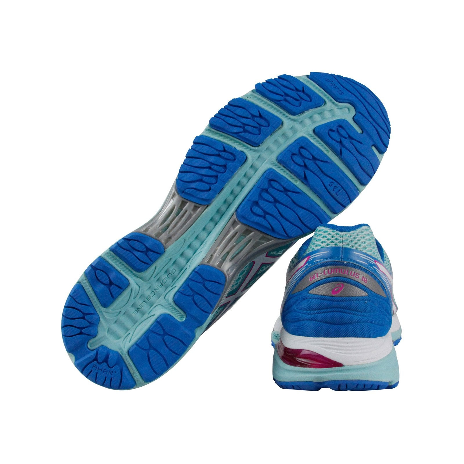 Asics Gel Cumulus 18 Womens Blue Mesh Athletic Lace Up