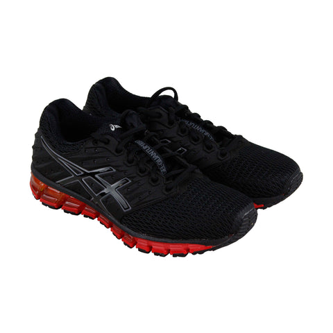 Asics Gel Quantum 180 2 Mens Black Mesh Athletic Lace Up Running Shoes