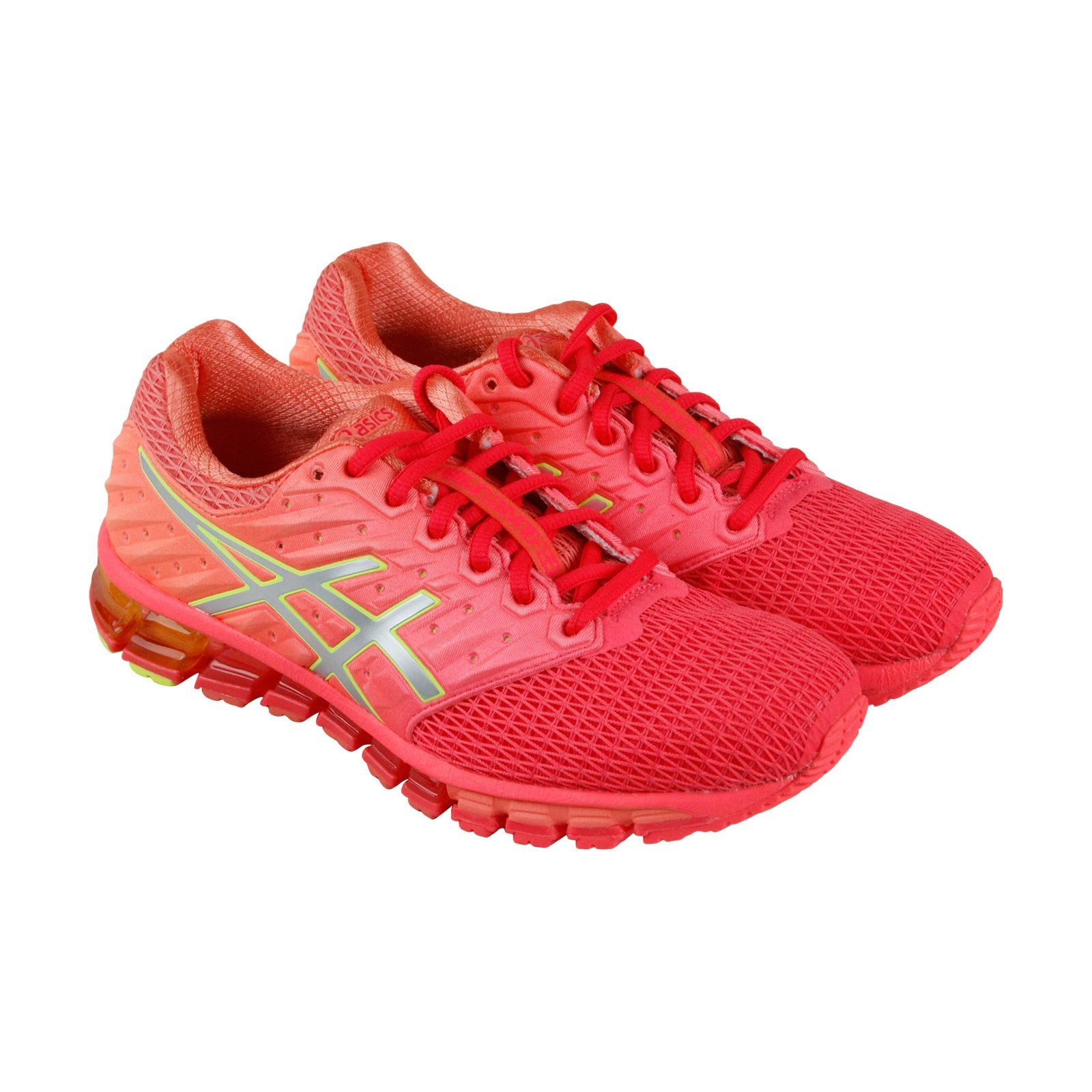 sale retailer 7c674 cc3f2 Asics Gel Quantum 180 2 Womens Red Mesh Athletic Lace Up Running Shoes