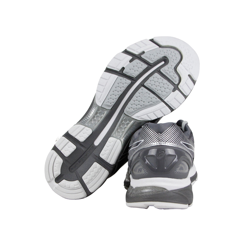 reputable site 62a27 1c222 Asics Gel Nimbus 19 Mens Gray Nylon Athletic Lace Up Running Shoes