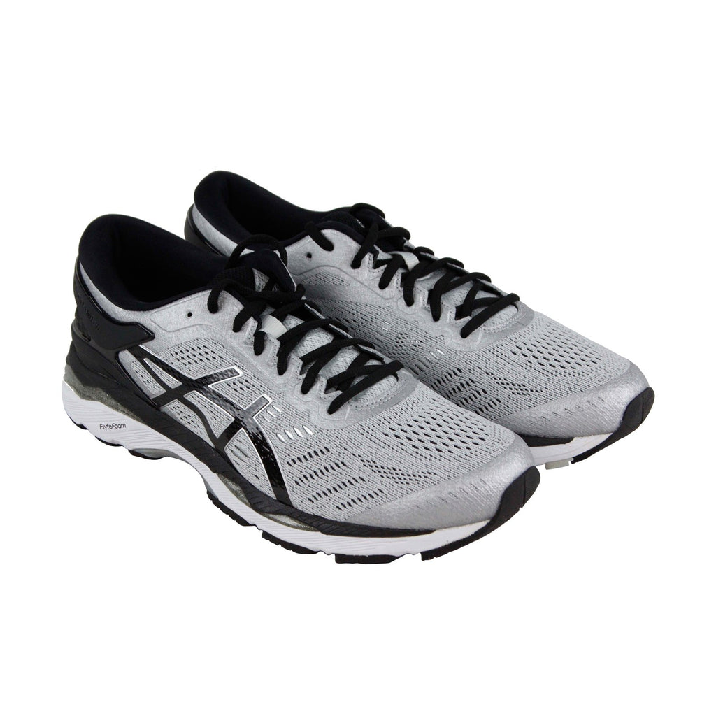 Kayano Up Textile Lace Gel Gray Athletic 24 Running Shoes Mens Asics Qsrhdt