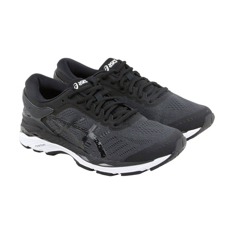 Asics Gel Kayano 24 Mens Black Textile Athletic Lace Up Running Shoes