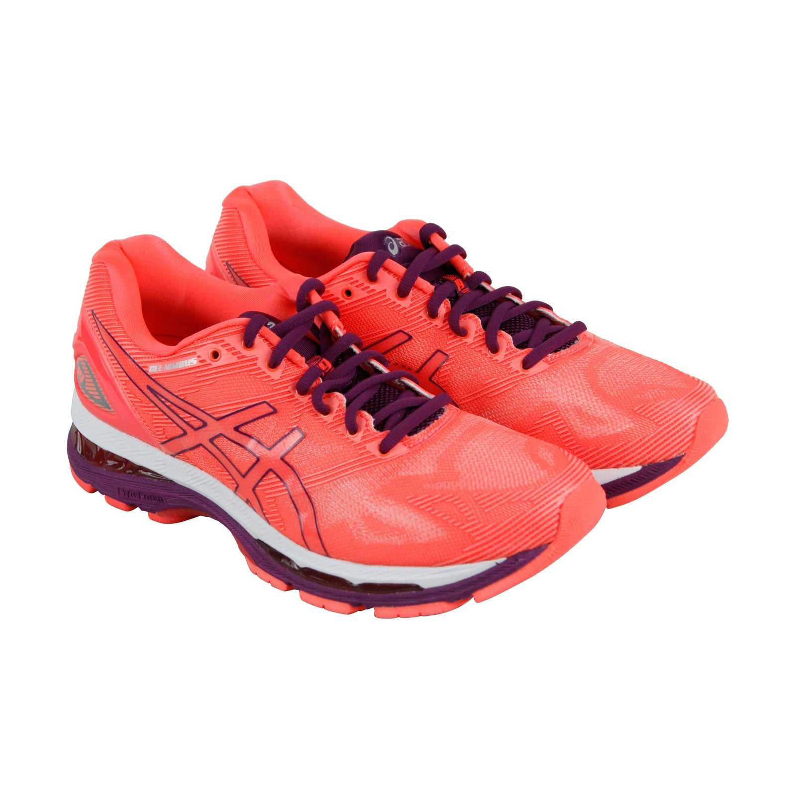 sports shoes 98892 180c8 Asics Gel Nimbus 19 Womens Orange Nylon Athletic Lace Up Running Shoes