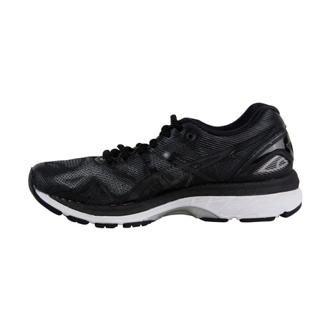 Asics Gel Nimbus 19 Womens Black Mesh Athletic Lace Up Running Shoes