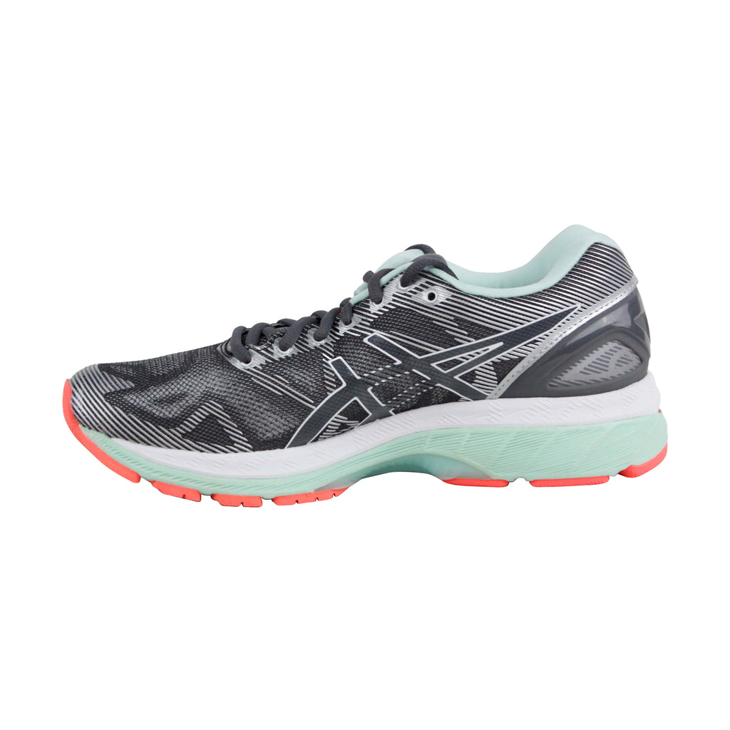size 40 3206f 23128 Asics Gel Nimbus 19 Womens Gray Mesh Athletic Lace Up Running Shoes