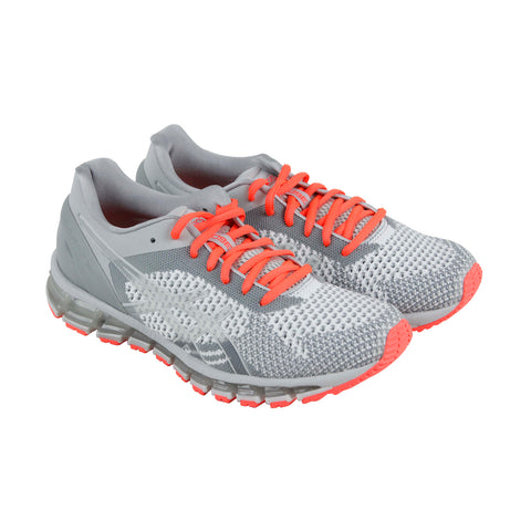Asics Gel Quantum 360 Knit Womens Gray Mesh Athletic Lace Up Running Shoes