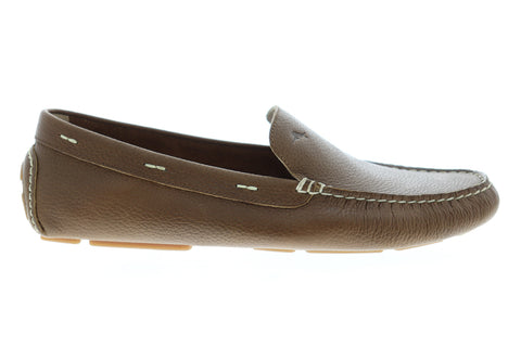 Tommy Bahama Pagota TB7S00047 Mens Brown Wide 2E Leather Moccasin Loafers Shoes