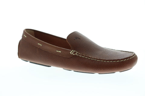 Tommy Bahama Maya Bay TB7F00133 Mens Brown Leather Slip On Casual Loafers Shoes