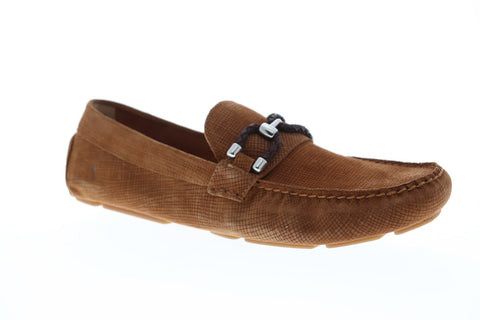 Tommy Bahama Galen Mens Brown Suede Casual Dress Slip On Loafers Shoes