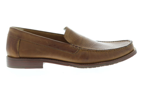 Tommy Bahama Felton 2 TB8M00086 Mens Tan Brown Leather Casual Loafers Shoes