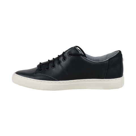TCG Cooper Mens Black Leather Low Top Lace Up Sneakers Shoes