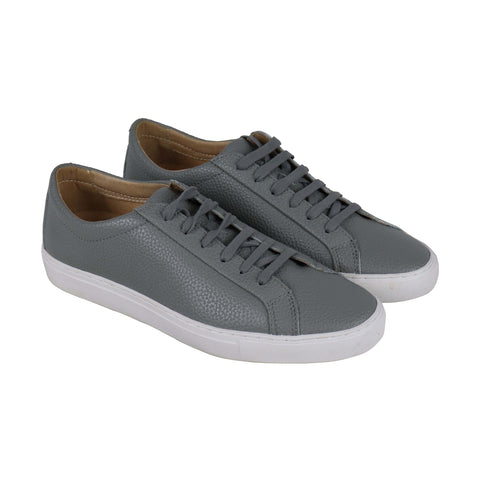 tcg kennedy lugged tcgss18 mens gray leather casual low