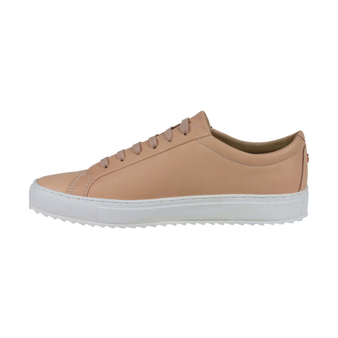TCG Kennedy Mens Beige Leather Low Top Lace Up Sneakers Shoes
