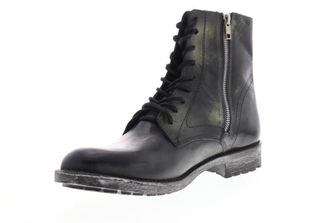Steve Madden Transit Mens Black Leather Zipper Casual Dress Boots Shoes