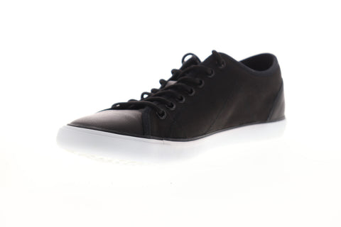 Geox U Smart Mens Black Leather Low Top Lace Up Euro Sneakers Shoes