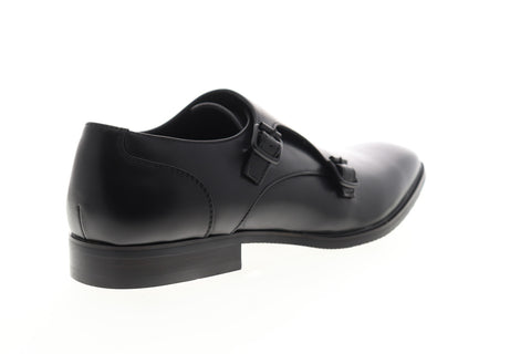 Unlisted by Kenneth Cole Dinner Monk Mens Black Low Top Monk Strap Oxfords Shoes