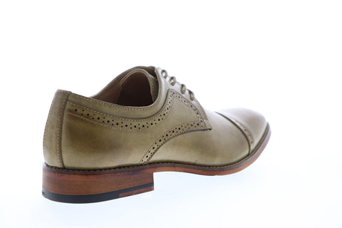 Unlisted by Kenneth Cole Cheer Lace Up Mens Brown Leather Cap Toe Oxfords Shoes