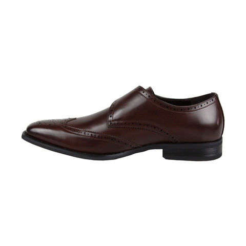 Kenneth Cole Unlisted Bryce Monk Mens Brown Casual Dress Oxfords Shoes