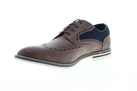 Unlisted by Kenneth Cole Ozzie Lace Up Mens Brown Leather Dress Oxfords Shoes