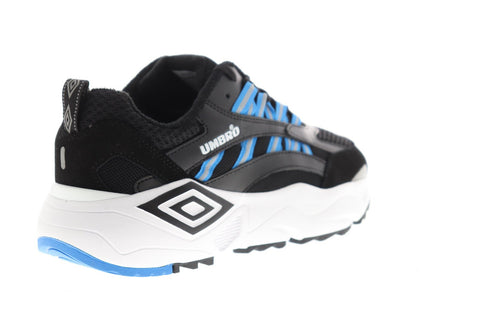 Umbro Neptune Mens Black Suede & Mesh Low Top Lace Up Sneakers Shoes