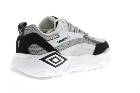 Umbro Neptune Mens Gray Suede & Mesh Low Top Lace Up Sneakers Shoes
