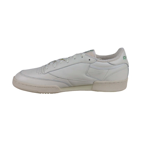 Reebok Club C 85 Vintage Mens Beige Leather Low Top Lace Up Sneakers Shoes