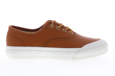 HUF Cromer VC64002 Mens Brown Leather Low Top Lace Up Skate Sneakers Shoes