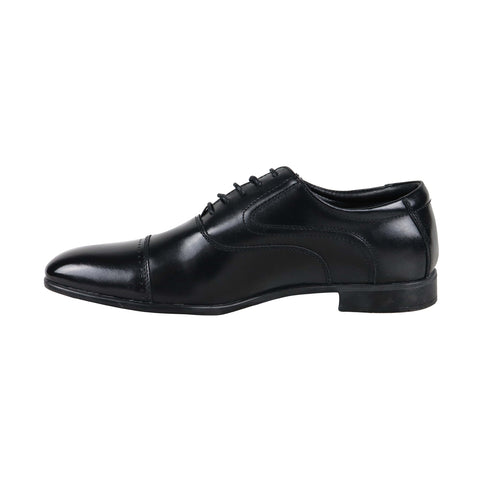 Steve Madden Verdic Mens Black Leather Casual Dress Lace Up Oxfords Shoes