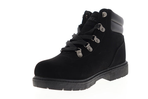 Lugz Lynnwood Mid WLYNWOMD-001 Mens Black Nubuck Casual Dress Lace Up Boots Shoes