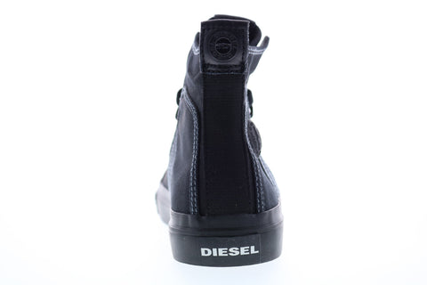 Diesel S-Astico Mid Lace Mens Black Canvas Lace Up Lifestyle Sneakers Shoes