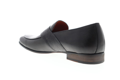 Zanzara Muse Penny Slot ZZ1280S Mens Gray Leather Low Top Slip On Loafers Shoes