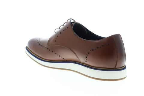 Zanzara Walker ZZC1214 Mens Brown Leather Low Top Lace Up Wingtip Oxfords Shoes