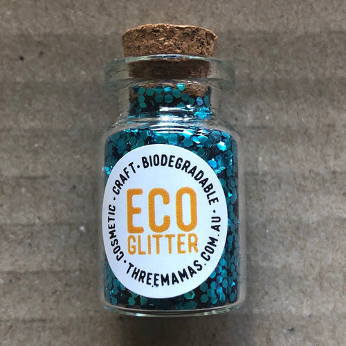 Eco Glitter Turquoise chunky by Three Mamas