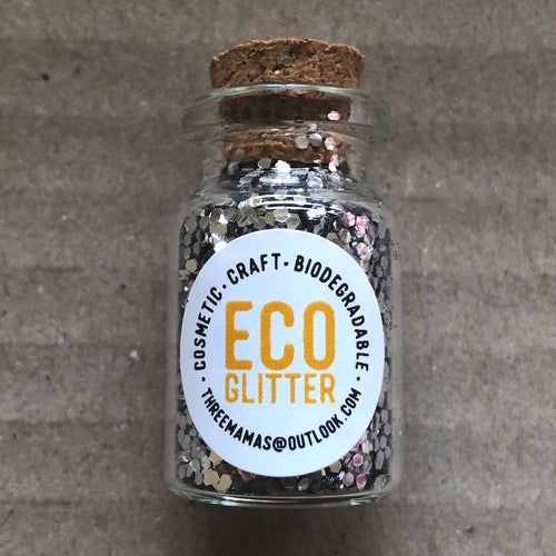 Eco Glitter Silver chunky by Three Mamas