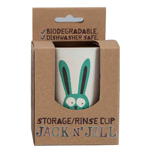 Bamboo Storage/Rinse Biodegradable Bunny Cup by Jack N' Jill