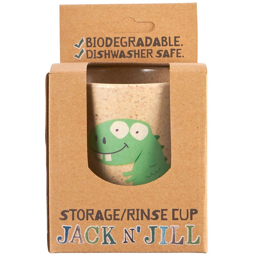 Bamboo Storage/Rinse Biodegradable Dino Cup by Jack N' Jill