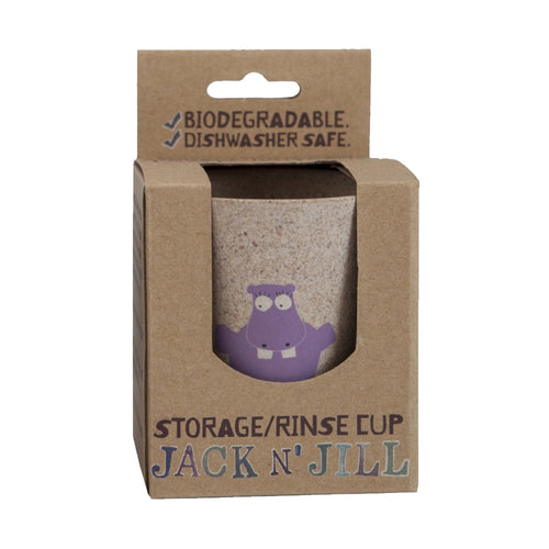 Bamboo Storage/Rinse Biodegradable Hippo Cup by Jack N' Jill