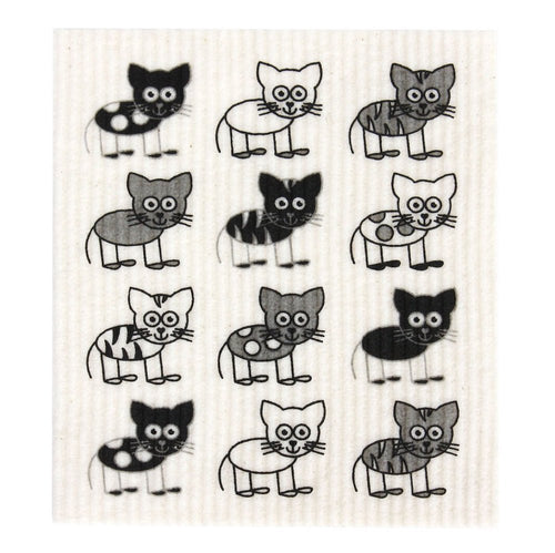 Kitchen Sponge Cats 100% Biodegradable by RetroKitchen