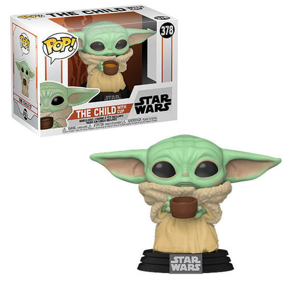 Funko Pop - Star Wars - The Mandalorian - The Child w/ Cup ( Baby Yoda )