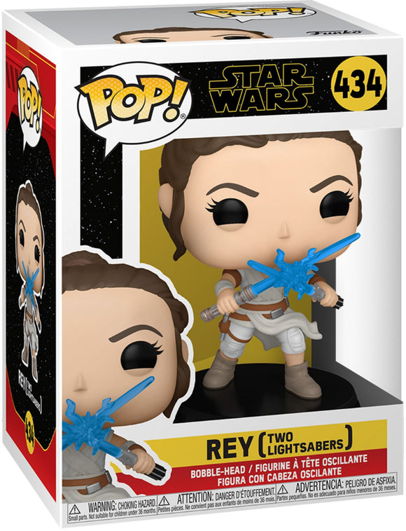 Funko Pop -  Star Wars Episode IX - Rey w/2 Light Sabers
