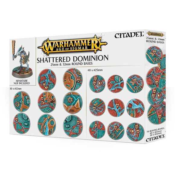 Basette rotonde Shattered Dominion da 25mm e 32mm