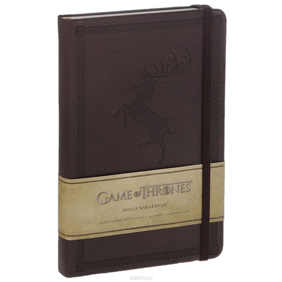 Game Of Thrones - Hardcover Ruled Journal House Baratheon