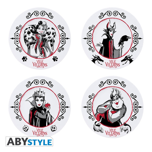 Disney - Villains - Set 4 Piatti
