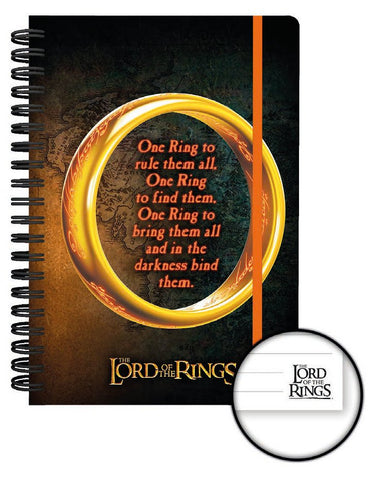 Notebook A5 Lord of the Rings con spirale